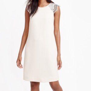 JCREW Dress w. Lace Cap Sleeve & Pockets NWT